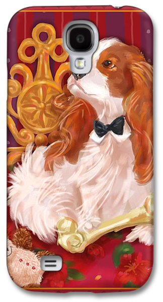 Toy Dog Galaxy S4 Cases - Little Dogs - Cavalier King Charles Spaniel Galaxy S4 Case by Shari Warren