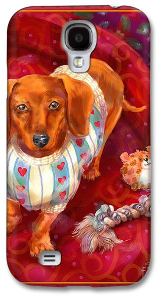 Toy Dog Galaxy S4 Cases - Little Dogs - Dachshund Galaxy S4 Case by Shari Warren