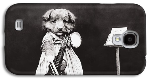Toy Dog Galaxy S4 Cases - Little fiddler Galaxy S4 Case by Aged Pixel