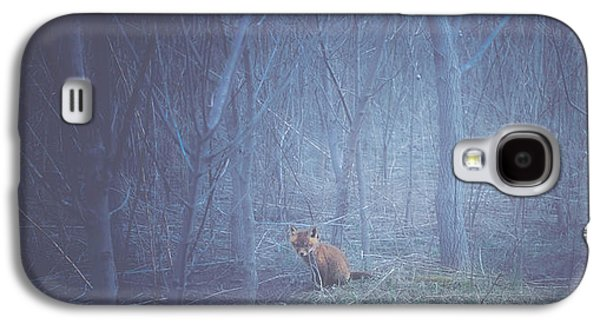 Red Fox Galaxy S4 Cases - Little Fox in the Woods Galaxy S4 Case by Carrie Ann Grippo-Pike