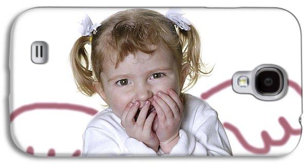 Fairy Hearts Pink Flower Galaxy S4 Cases - Little Girl Angel Galaxy S4 Case by Lane Erickson