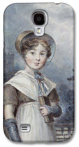 Youthful Paintings Galaxy S4 Cases - Little Girl in a Quaker Costume Galaxy S4 Case by Isaac Pocock