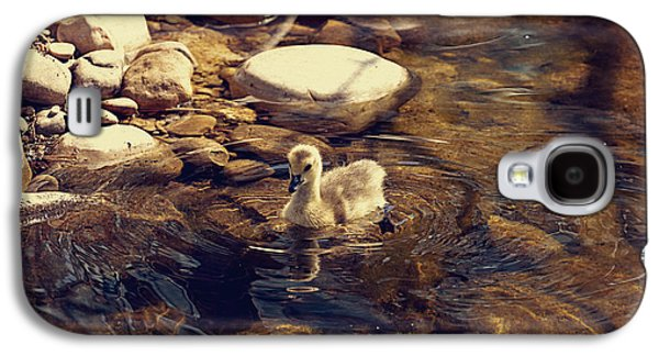 Geese Digital Art Galaxy S4 Cases - Little Goose Galaxy S4 Case by Maria Angelica Maira