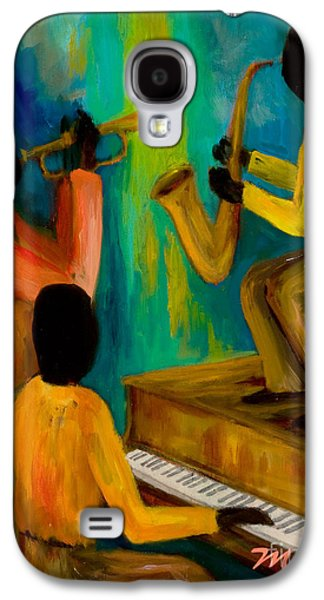 African-american Galaxy S4 Cases - Little Jazz Trio I Galaxy S4 Case by Larry Martin