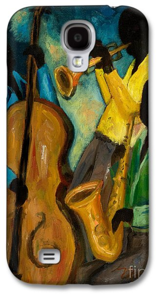African-american Galaxy S4 Cases - Little Jazz Trio III Galaxy S4 Case by Larry Martin