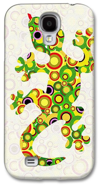 Girl Galaxy S4 Cases - Little Lizard - Animal Art Galaxy S4 Case by Anastasiya Malakhova