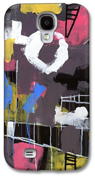 Abstract Expressionist Galaxy S4 Cases - Little Lulu at the Circus Galaxy S4 Case by Douglas Simonson