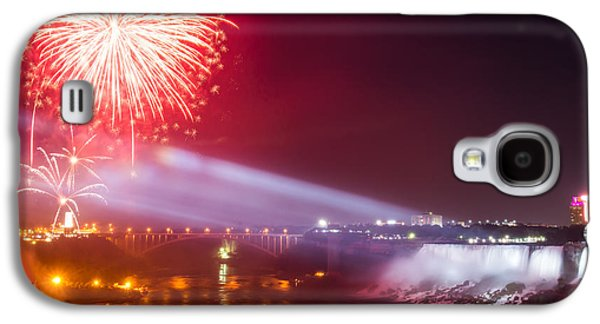 Pyrotechnics Galaxy S4 Cases - Little Niagara Falls Fireworks Galaxy S4 Case by James Wheeler