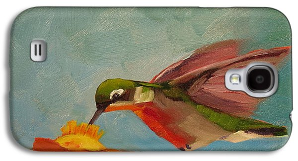 Cage Paintings Galaxy S4 Cases - Little Nipper Galaxy S4 Case by Kari Melen