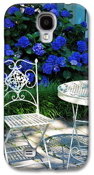 Garden Flowers Galaxy S4 Cases - Little Patio Chair Galaxy S4 Case by Jan Amiss Photography