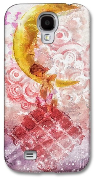 Little Girls Mixed Media Galaxy S4 Cases - Little Princess Galaxy S4 Case by Mo T