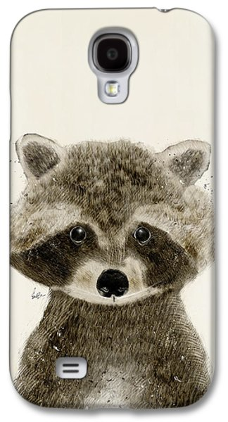 Raccoon Digital Art Galaxy S4 Cases - Little Raccoon Galaxy S4 Case by Bri Buckley