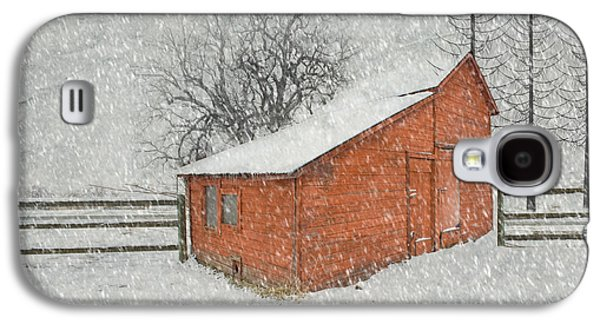 Red Barns Galaxy S4 Cases - Little Red Barn Galaxy S4 Case by Juli Scalzi
