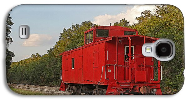 Machinery Galaxy S4 Cases - Little Red Caboose Galaxy S4 Case by HH Photography