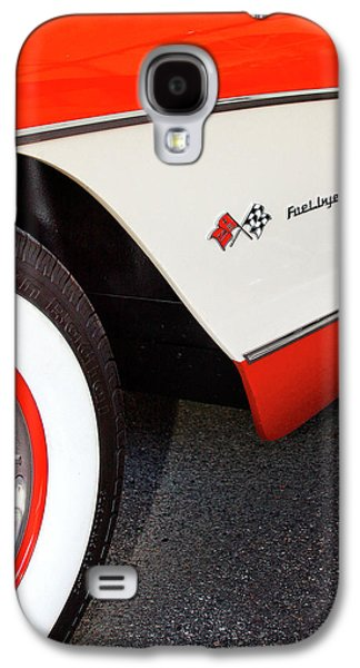 Transportation Photographs Galaxy S4 Cases - LITTLE RED CORVETTE Palm Springs Galaxy S4 Case by William Dey