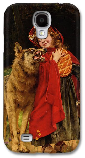 Gabriel Galaxy S4 Cases - Little Red Riding Hood Galaxy S4 Case by Gabriel Joseph Marie Augustin Ferrier
