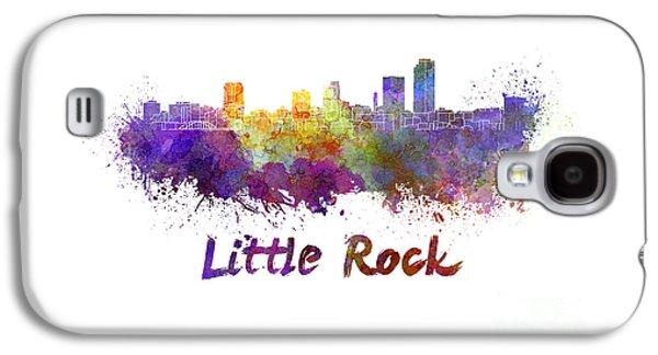 Arkansas Paintings Galaxy S4 Cases - Little Rock skyline in watercolor Galaxy S4 Case by Pablo Romero
