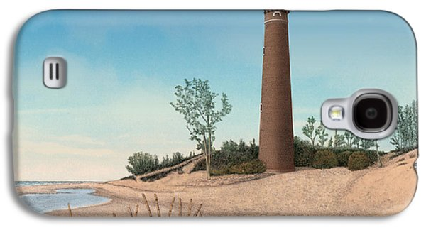Little Sable Point Lighthouse Titled Galaxy S4 Case by Darren Kopecky