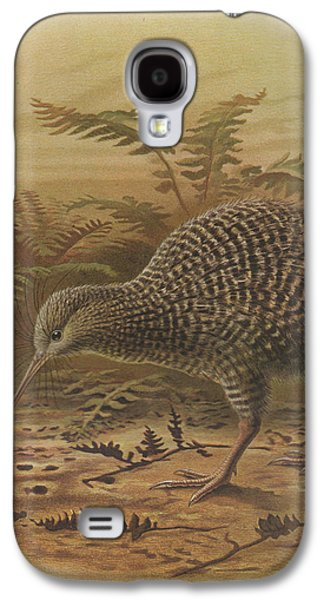 Ornithology Paintings Galaxy S4 Cases - Little Spotted Kiwi Galaxy S4 Case by J G Keulemans