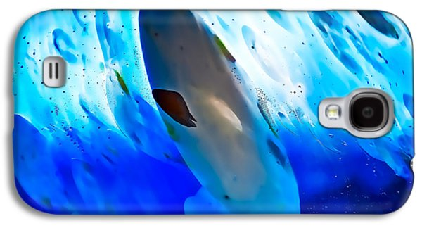 Contemporary Art Glass Art Galaxy S4 Cases - Little Swimmers Galaxy S4 Case by Omaste Witkowski