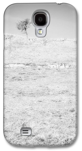 Little Tree On The Hill - Black And White Galaxy S4 Case by Natalie Kinnear