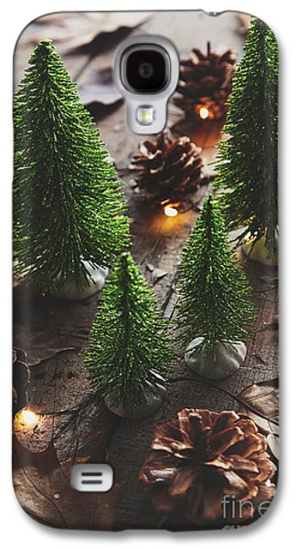 Celebration Photographs Galaxy S4 Cases - Little trees with pine cones and leaves  Galaxy S4 Case by Sandra Cunningham