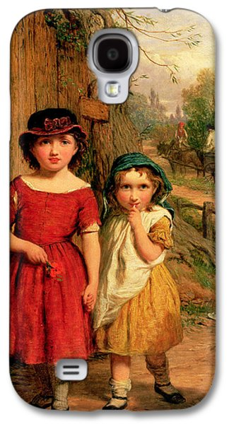 Youthful Paintings Galaxy S4 Cases - Little Villagers Galaxy S4 Case by George Smith