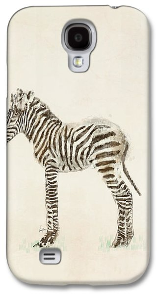Zebra Digital Art Galaxy S4 Cases - Little Zebra Galaxy S4 Case by Bri Buckley