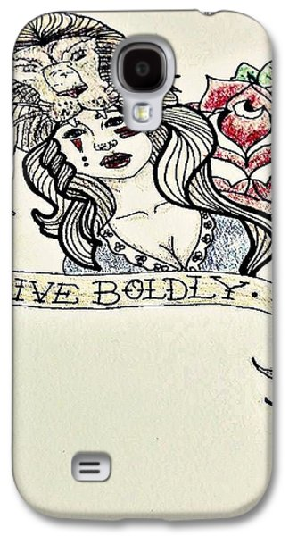 Inner Self Galaxy S4 Cases - Live Boldly Galaxy S4 Case by Lindsay Wood
