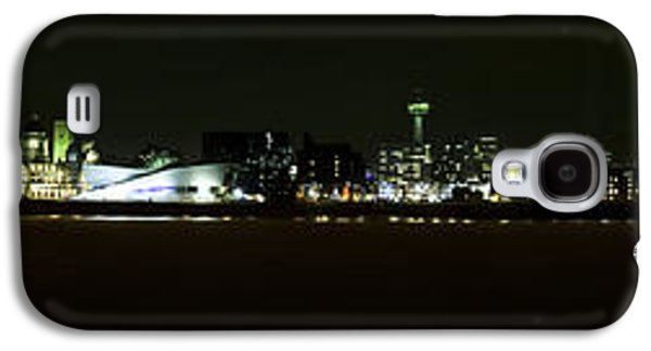 Beatles Galaxy S4 Cases - Liverpool Waterfront at Night Galaxy S4 Case by Karen Lawrence  SMPhotography