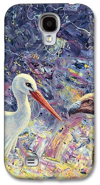 Living Between Beaks Galaxy S4 Case by James W Johnson