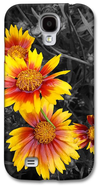 Floral Sculptures Galaxy S4 Cases - Living Color Galaxy S4 Case by Diane E Berry