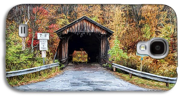 Covered Bridge Paintings Galaxy S4 Cases - Livingston Manor Covered Bridge Galaxy S4 Case by Deborah Benoit