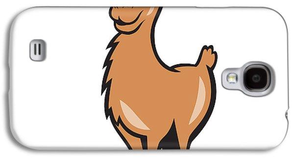 Llama Digital Galaxy S4 Cases - Llama Cartoon Galaxy S4 Case by Aloysius Patrimonio