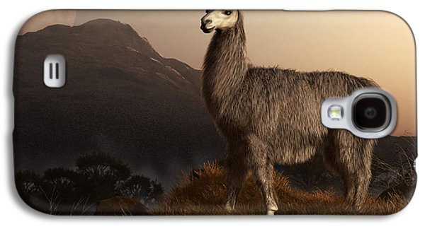 Llama Dawn Galaxy S4 Case by Daniel Eskridge