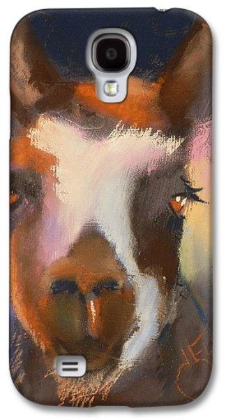 Facing Pastels Galaxy S4 Cases - Llama Galaxy S4 Case by Jann Elwood