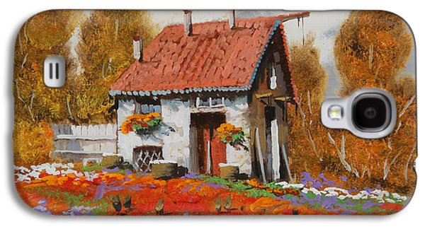 Flower Jewelry Galaxy S4 Cases - Lo Steccato Galaxy S4 Case by Guido Borelli