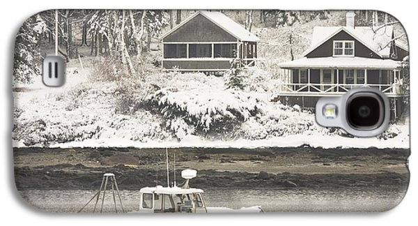 Maine Winter Galaxy S4 Cases - Lobster Boat After Snowstorm in Tenants Harbor Maine Galaxy S4 Case by Keith Webber Jr