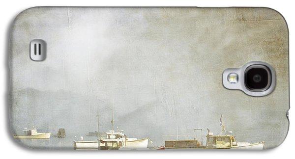 Carol Leigh Galaxy S4 Cases - Lobster Boats at Anchor Bar Harbor Maine Galaxy S4 Case by Carol Leigh