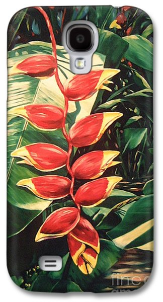 Claw Paintings Galaxy S4 Cases - Lobster Claw Heliconia Galaxy S4 Case by John Clark