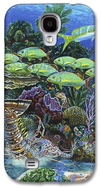 Maine Paintings Galaxy S4 Cases - Lobster Feast Re0019 Galaxy S4 Case by Carey Chen