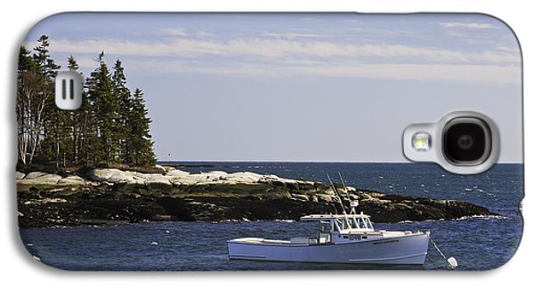 Coastal Maine Galaxy S4 Cases - Lobsterboat in Spruce Head on The Coast of Maine Galaxy S4 Case by Keith Webber Jr