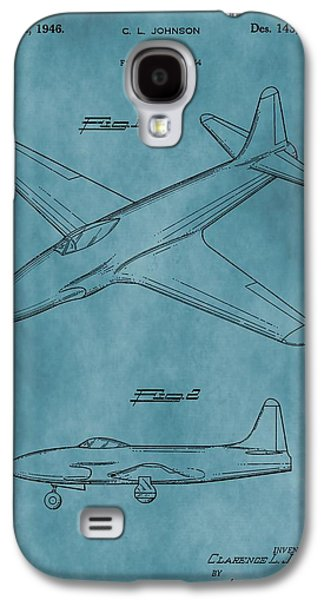 Jet Star Galaxy S4 Cases - Lockheed P-80 Patent Blue Galaxy S4 Case by Dan Sproul