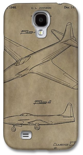 Jet Star Galaxy S4 Cases - Lockheed P-80 Patent Galaxy S4 Case by Dan Sproul