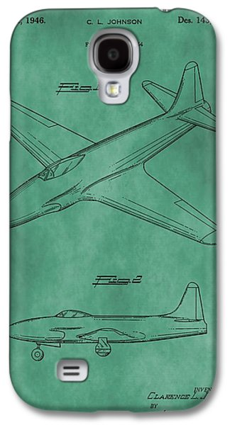Jet Star Galaxy S4 Cases - Lockheed P-80 Patent Green Galaxy S4 Case by Dan Sproul