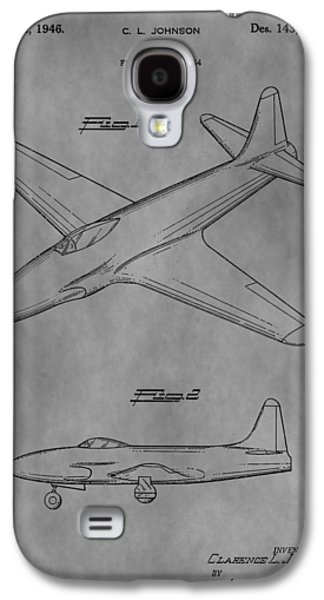 Jet Star Galaxy S4 Cases - Lockheed Patent Galaxy S4 Case by Dan Sproul