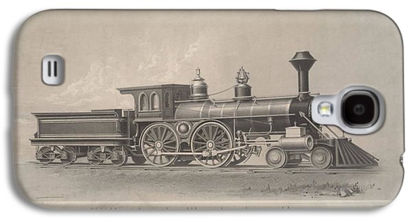 Etc. Paintings Galaxy S4 Cases - Locomotive Engines Galaxy S4 Case by MotionAge Designs