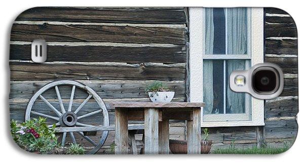 Log Cabin Galaxy S4 Case by Juli Scalzi