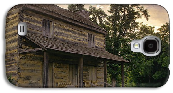 Log Cabin Photographs Galaxy S4 Cases - Log House Dusk Galaxy S4 Case by Heather Applegate