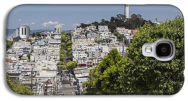 Bay Bridge Galaxy S4 Cases - Lombard Street and Coit Tower on Telegraph Hill Galaxy S4 Case by Adam Romanowicz